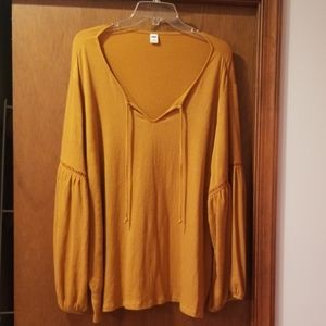 Womens XXL Old Navy Peasant Top.